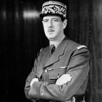 Fifth French president Charles De Gaulle