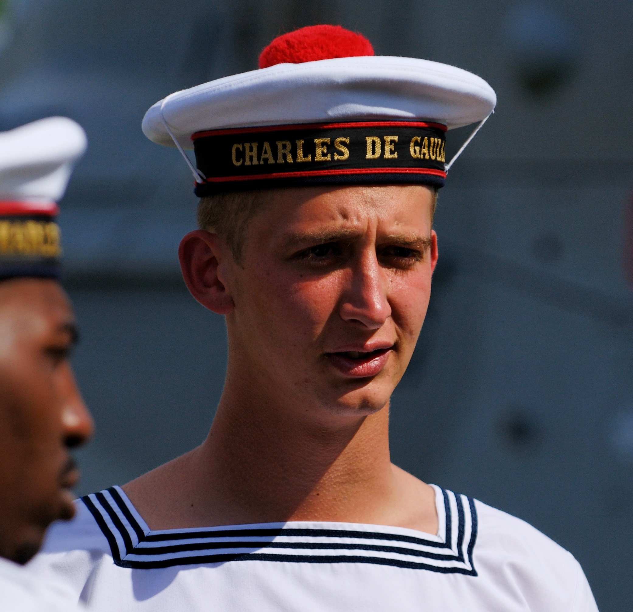 A young Charles de Gaulle as a sailor.