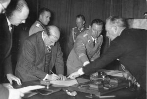 The signing of Munich Pact on 1938